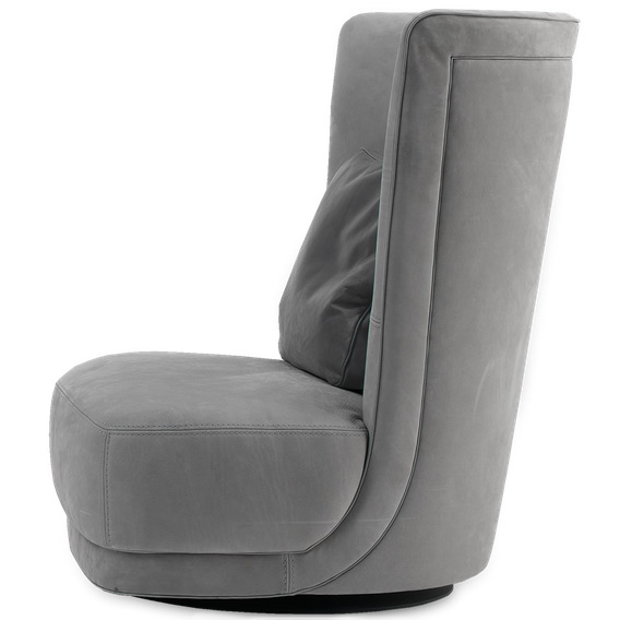 Revolving armchair etienne berg re by baxter for Baxter poltrone