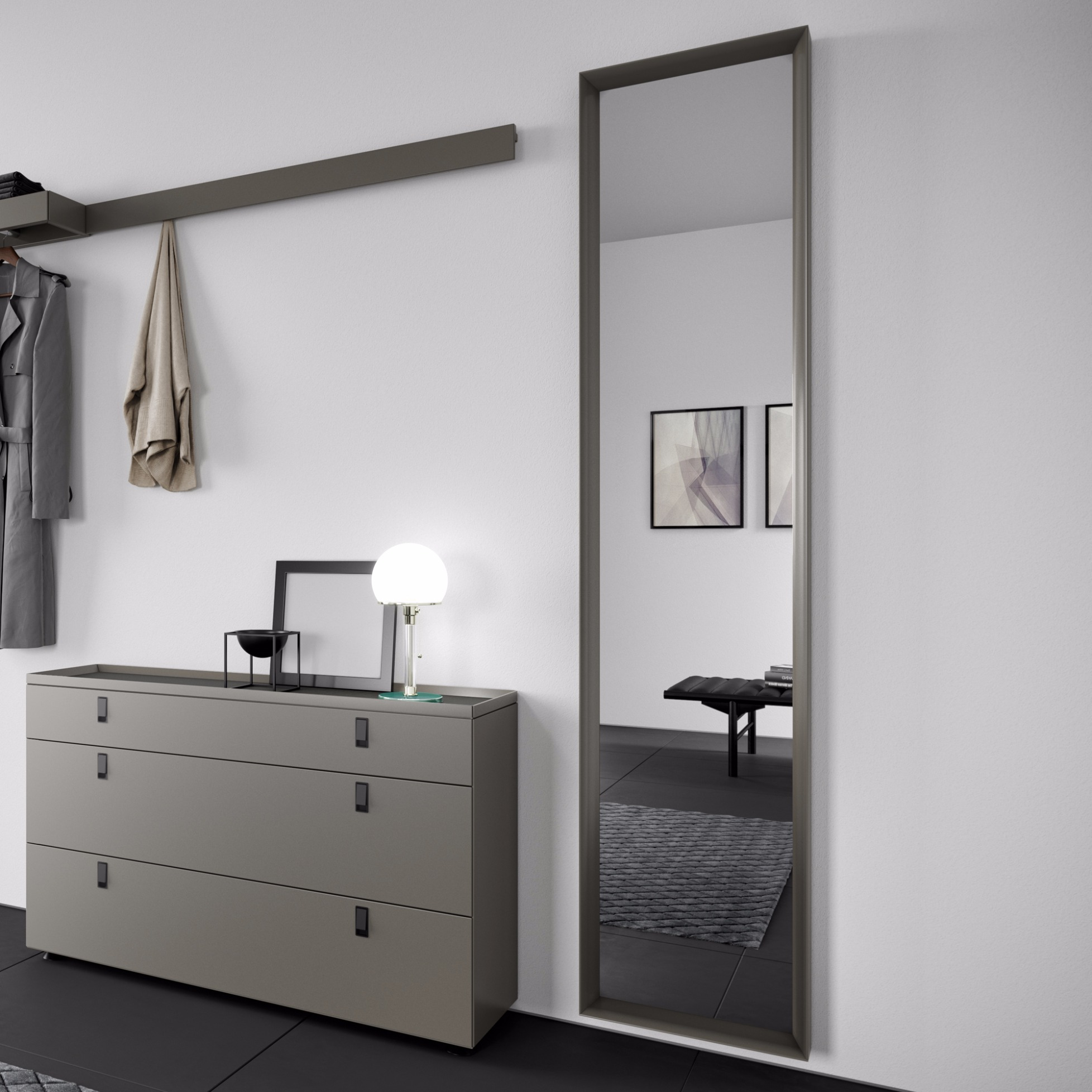 menos entrance garderobenspiegel von behr. Black Bedroom Furniture Sets. Home Design Ideas