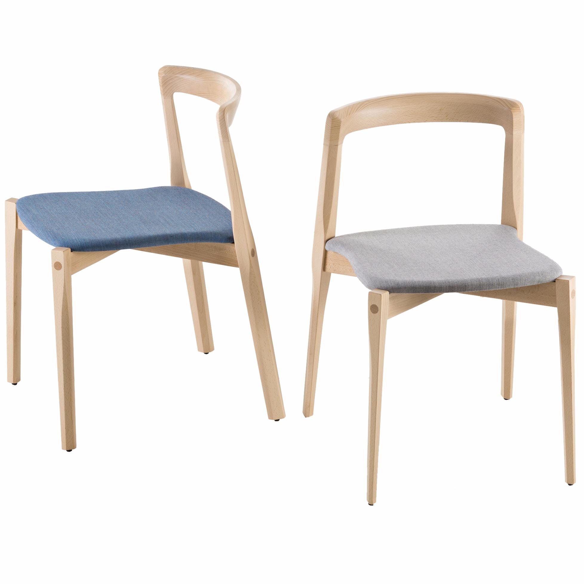 gepolsterter stuhl helix von b line. Black Bedroom Furniture Sets. Home Design Ideas