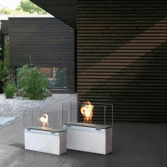 feuerstelle kamin muro stone von conmoto. Black Bedroom Furniture Sets. Home Design Ideas