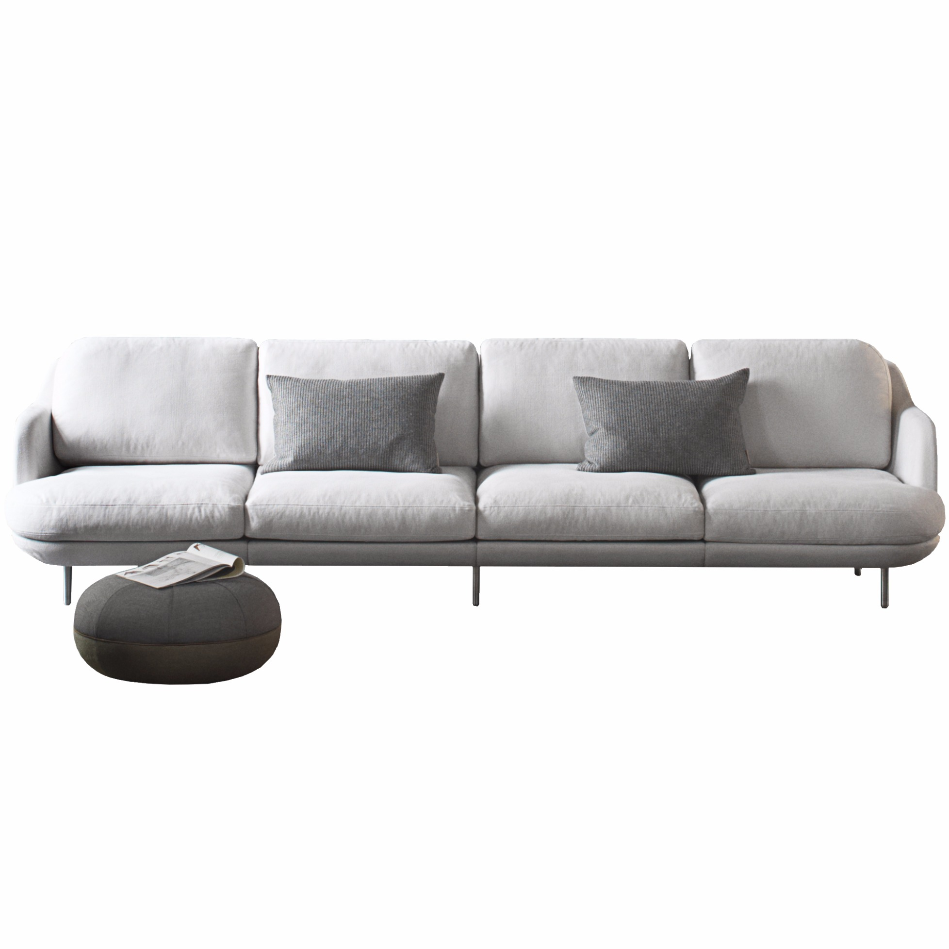 4 sitzer sofa lune von fritz hansen. Black Bedroom Furniture Sets. Home Design Ideas