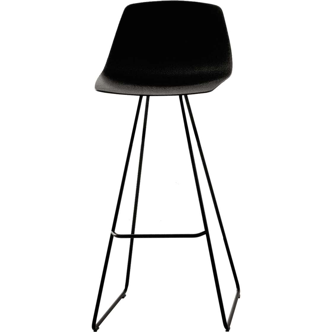 stool miunn with sled base 75cm by lapalma. Black Bedroom Furniture Sets. Home Design Ideas