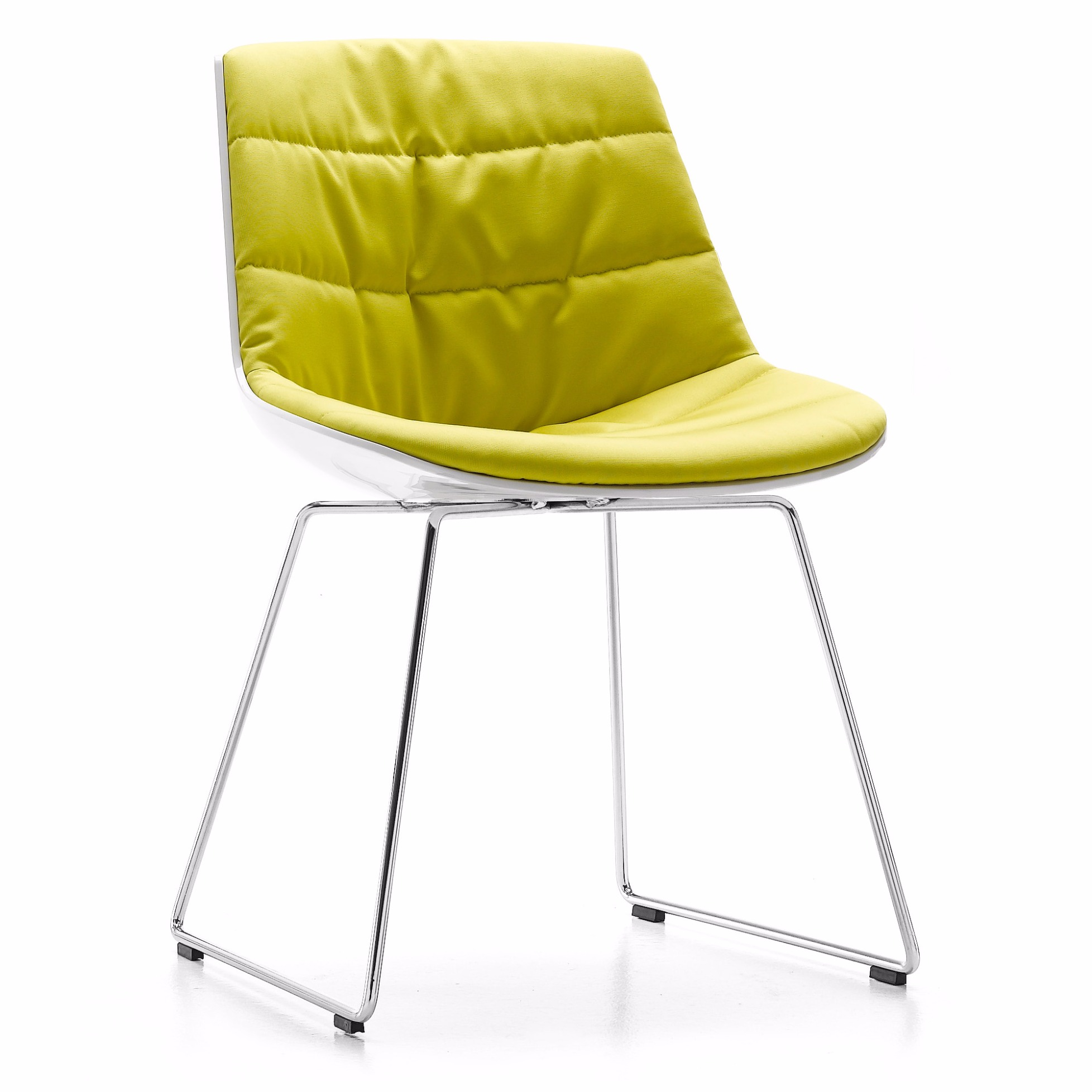 Polsterstuhl flow chair von mdf italia mit kufengestell for Mdfitalia it