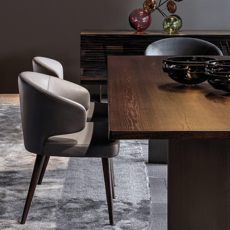 chair aston dining by minotti. Black Bedroom Furniture Sets. Home Design Ideas