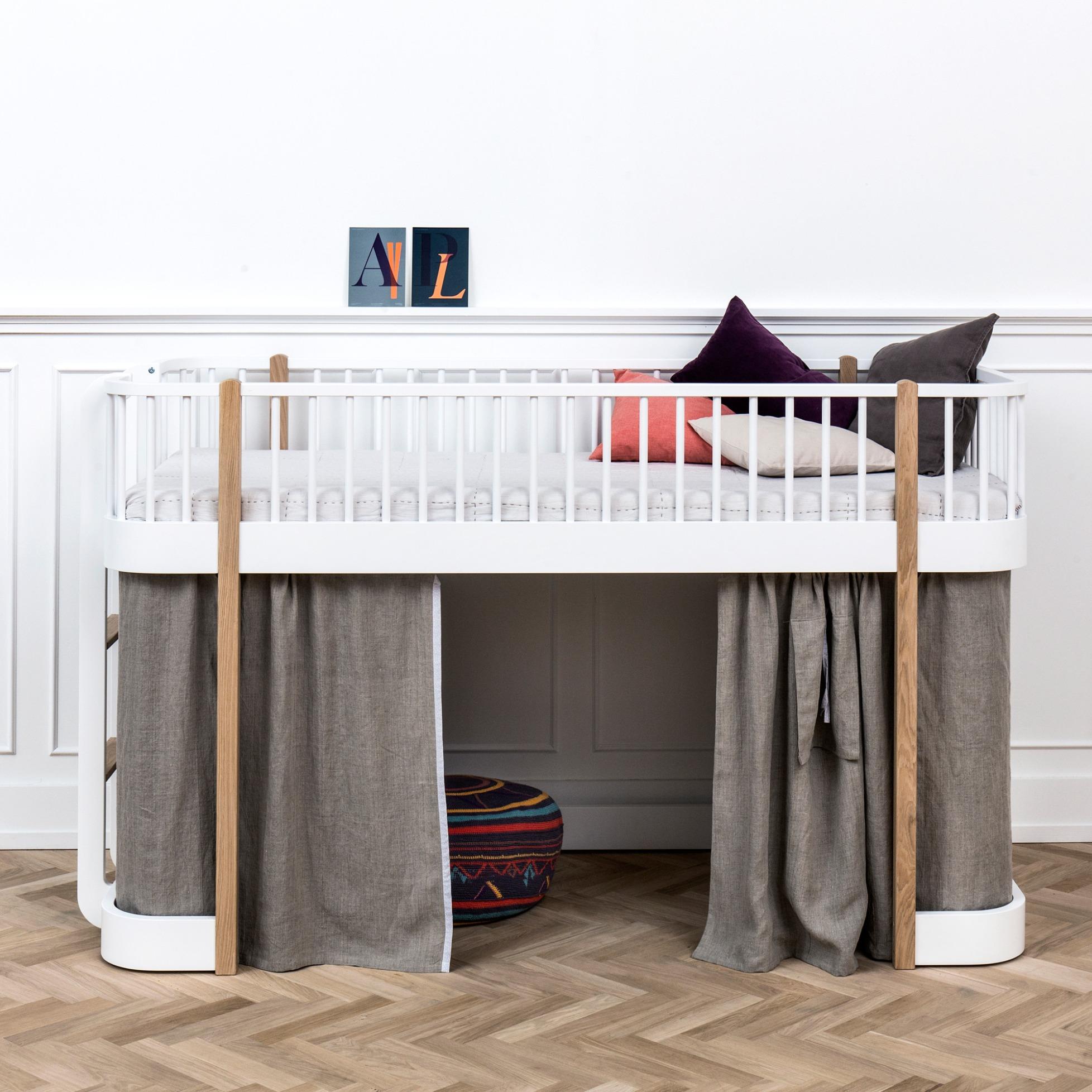 wood low loft bed by oliver furniture - Oliver Furniture Hochbett