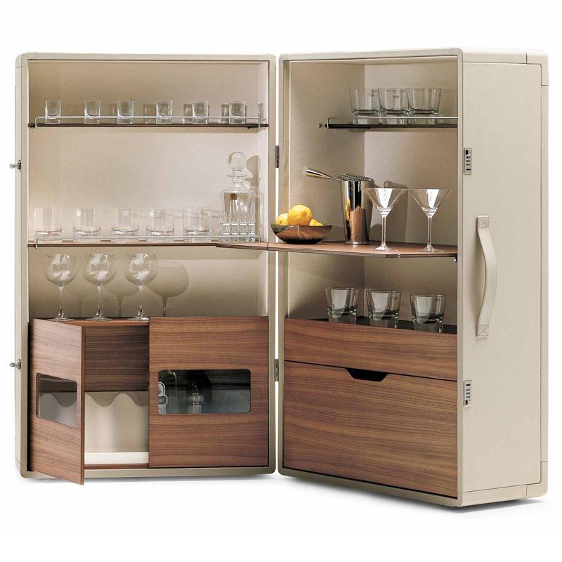barschrank isidorovon poltrona frau. Black Bedroom Furniture Sets. Home Design Ideas