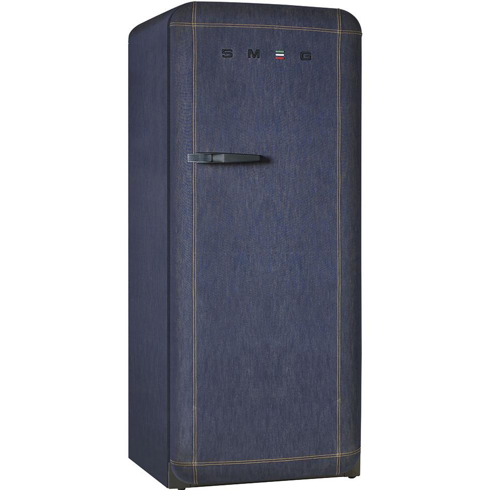 fab28 denim refrigerator by smeg. Black Bedroom Furniture Sets. Home Design Ideas