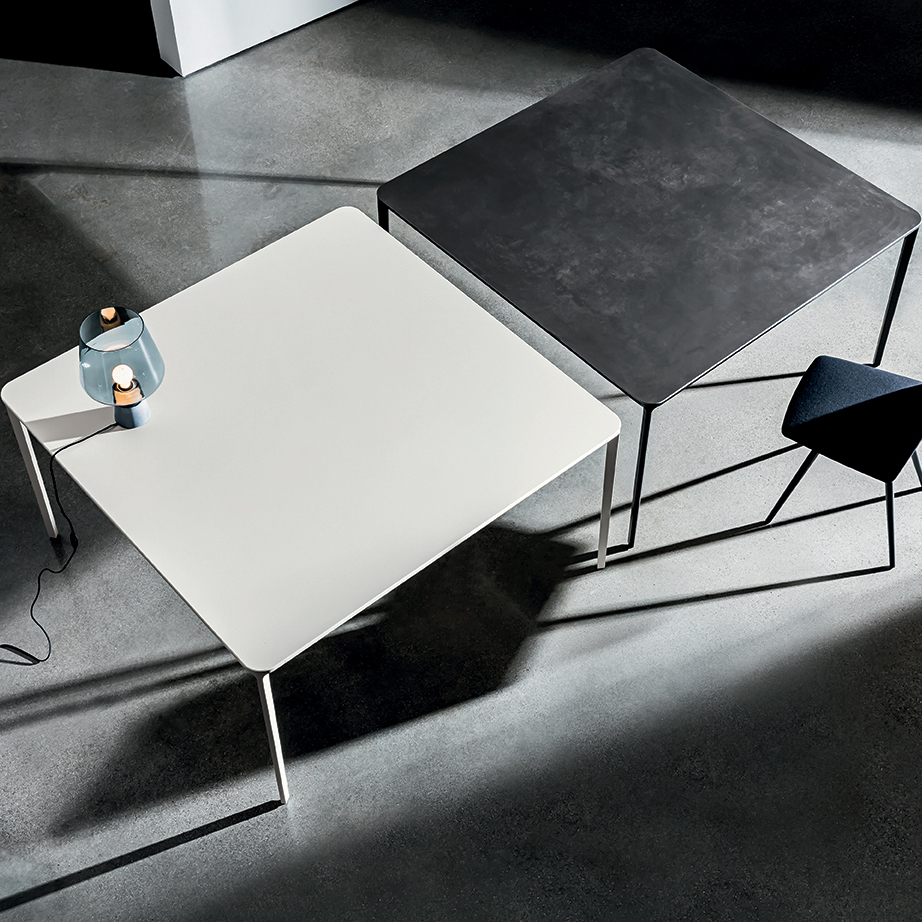Square Dining Table Slim Ceramic By Sovet Italia