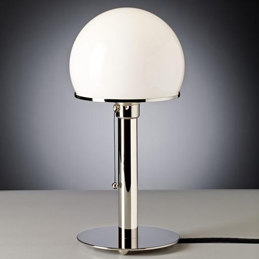 wagenfeld tischleuchte wa24 von tecnolumen. Black Bedroom Furniture Sets. Home Design Ideas