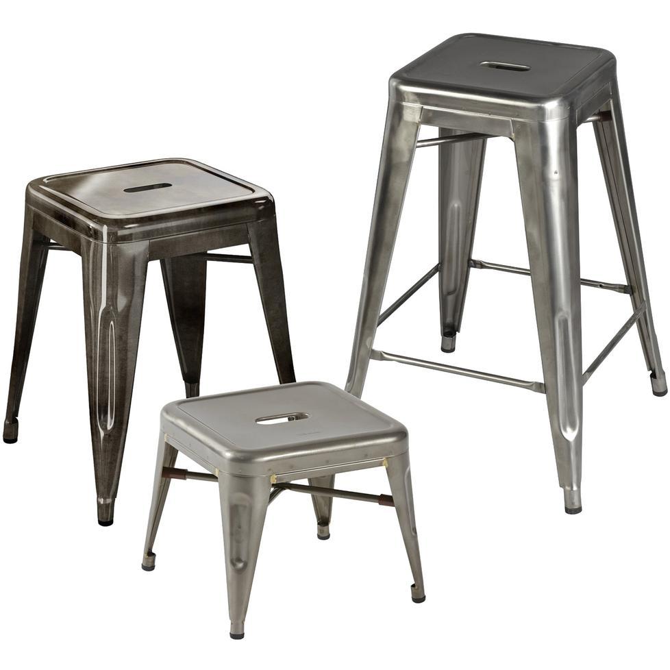 tolix hocker h in rohstahl. Black Bedroom Furniture Sets. Home Design Ideas