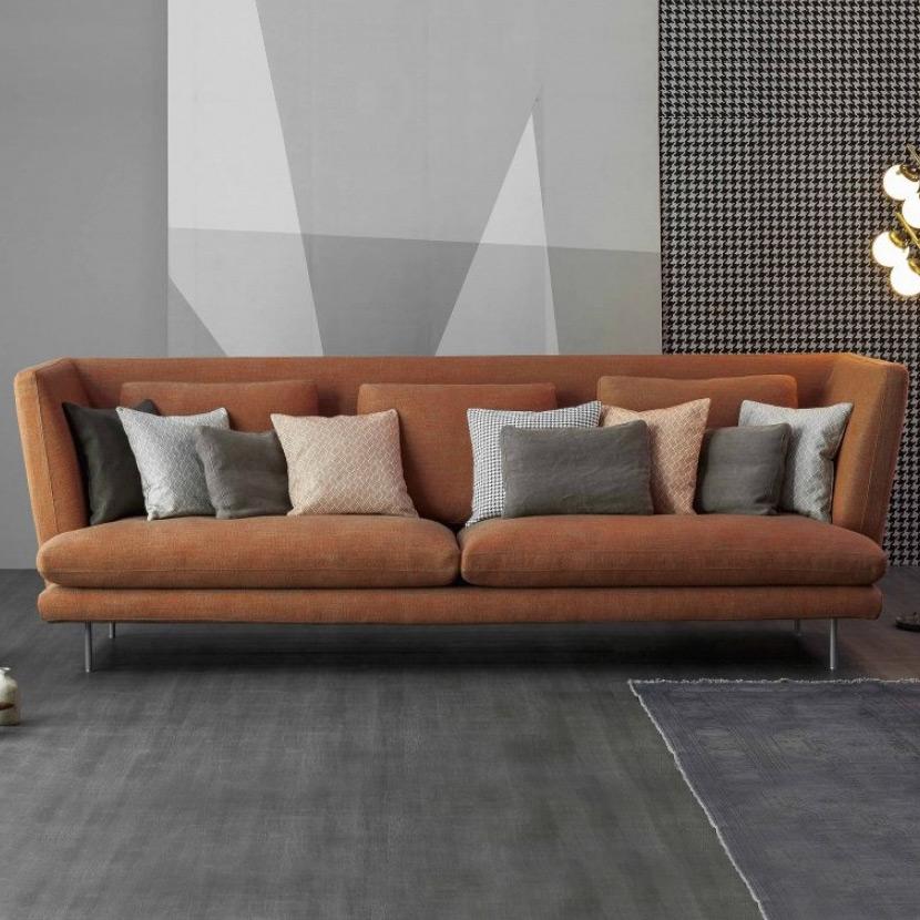 sofa lars mit hohem r cken von bonaldo. Black Bedroom Furniture Sets. Home Design Ideas