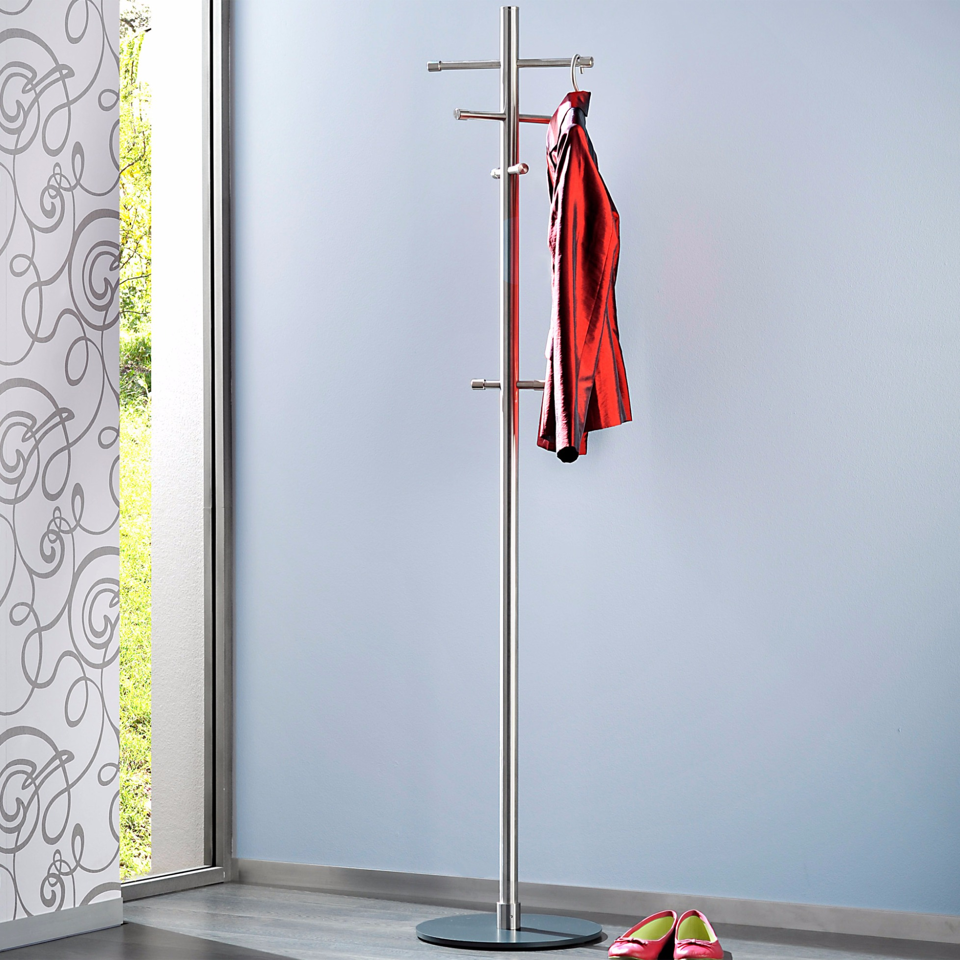 standgarderobe pur von d tec. Black Bedroom Furniture Sets. Home Design Ideas
