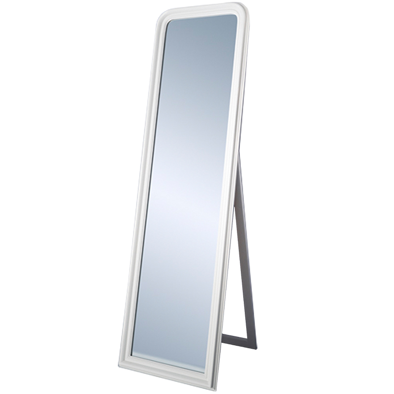Standing mirror standing white by deknudt mirrors for White long standing mirror