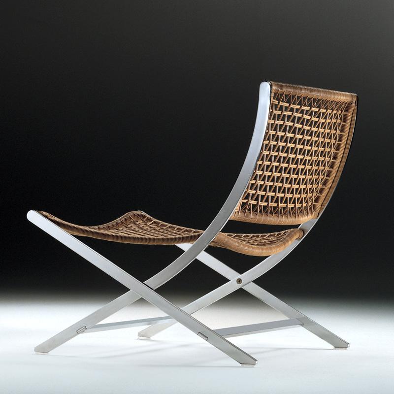 armchair and stool peter von flexform. Black Bedroom Furniture Sets. Home Design Ideas