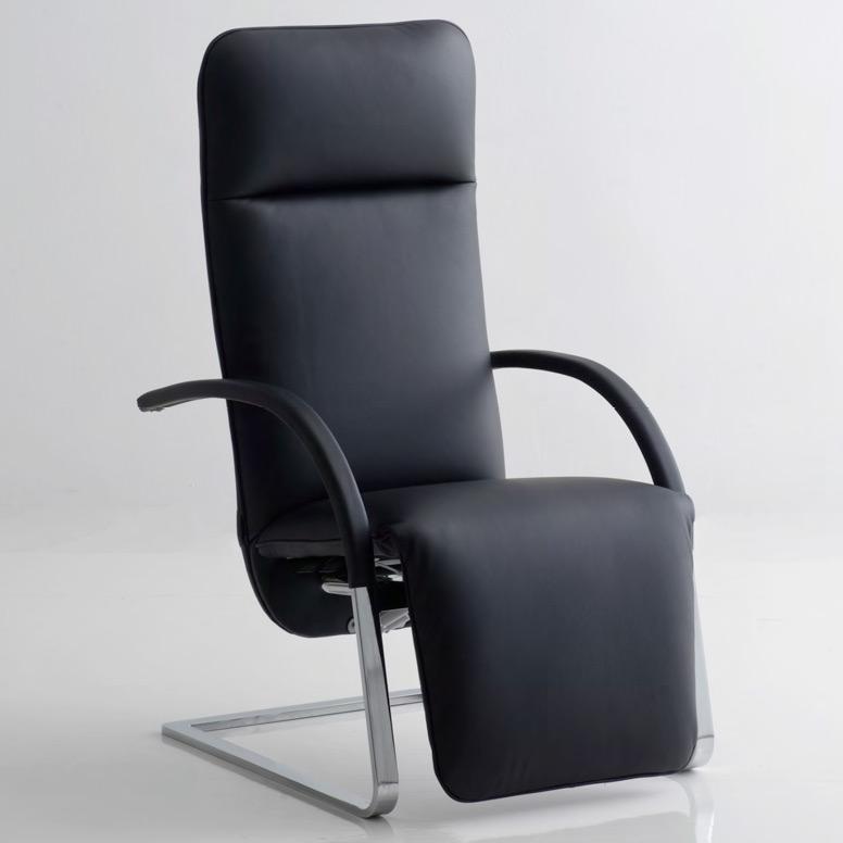 fino flat steel reclining chair by franz ferig. Black Bedroom Furniture Sets. Home Design Ideas