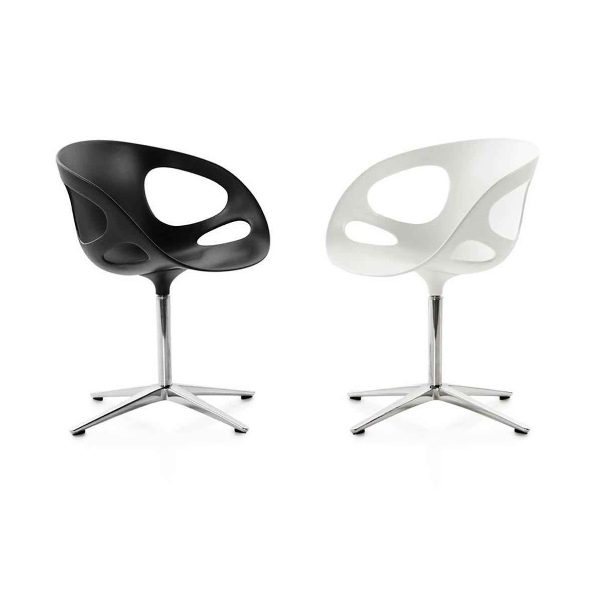 drehbarer stuhl rin von fritz hansen. Black Bedroom Furniture Sets. Home Design Ideas