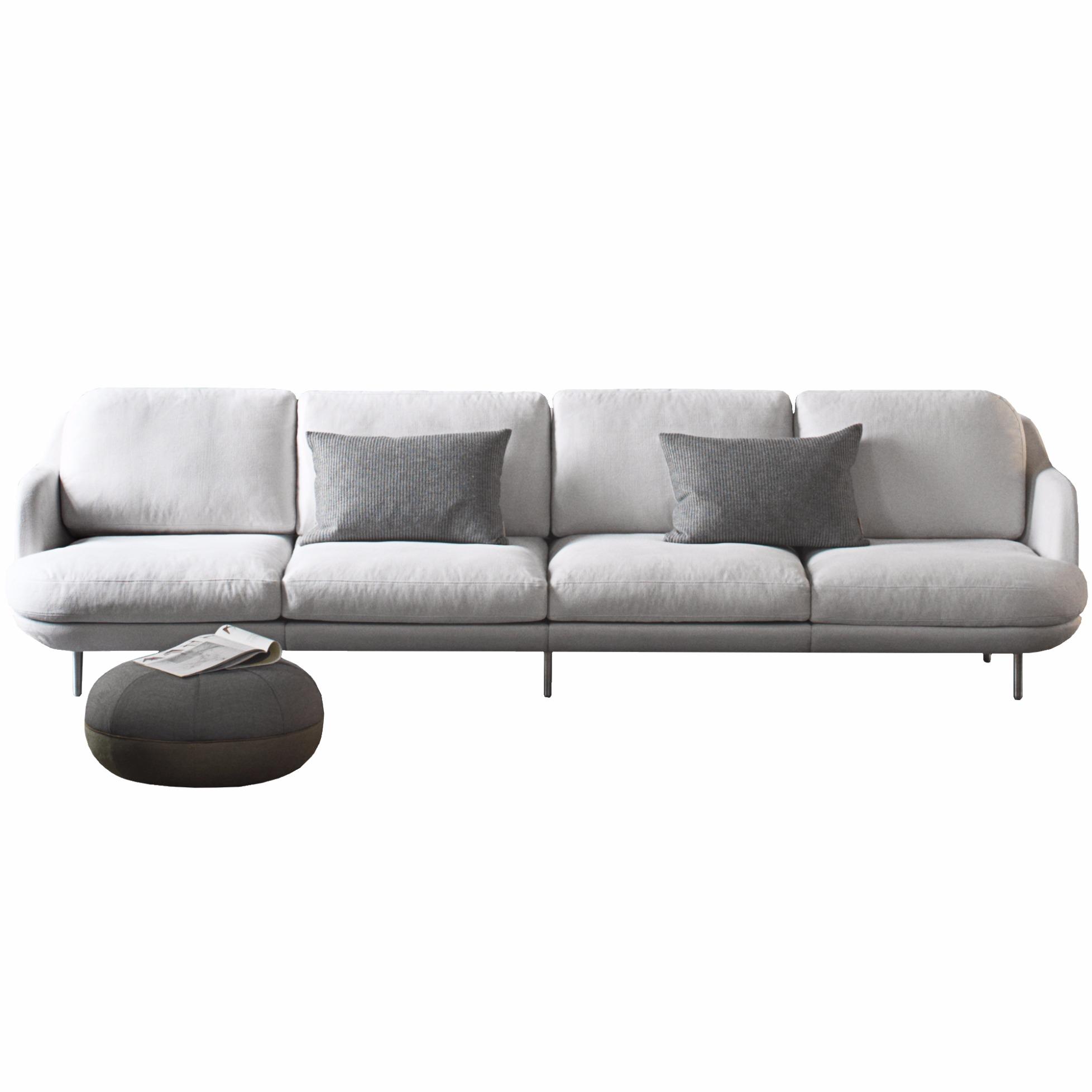 4 sitzer sofa lune von fritz hansen for Sofa 4 sitzer