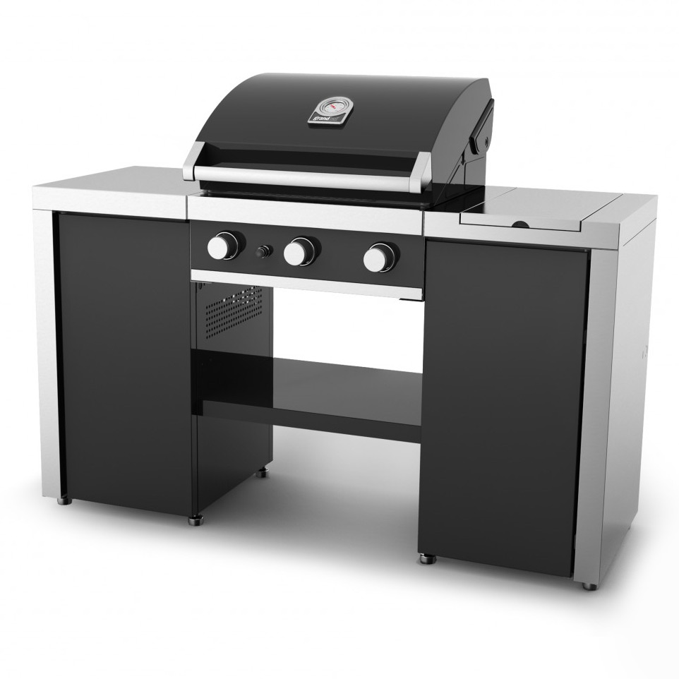 premium gt island gas grill by grand hall. Black Bedroom Furniture Sets. Home Design Ideas