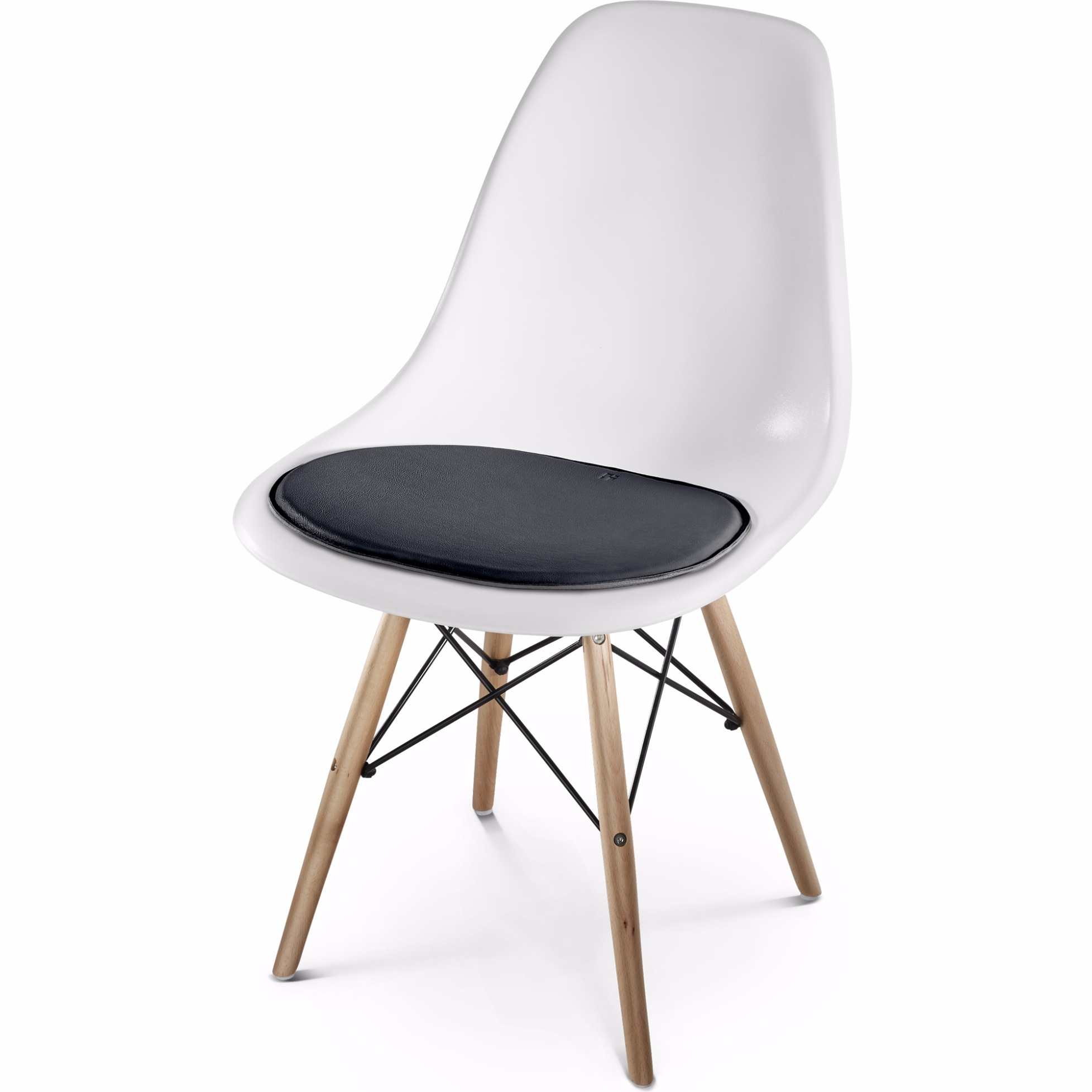 leder sitzkissen f r eames side chair von hillmann living. Black Bedroom Furniture Sets. Home Design Ideas