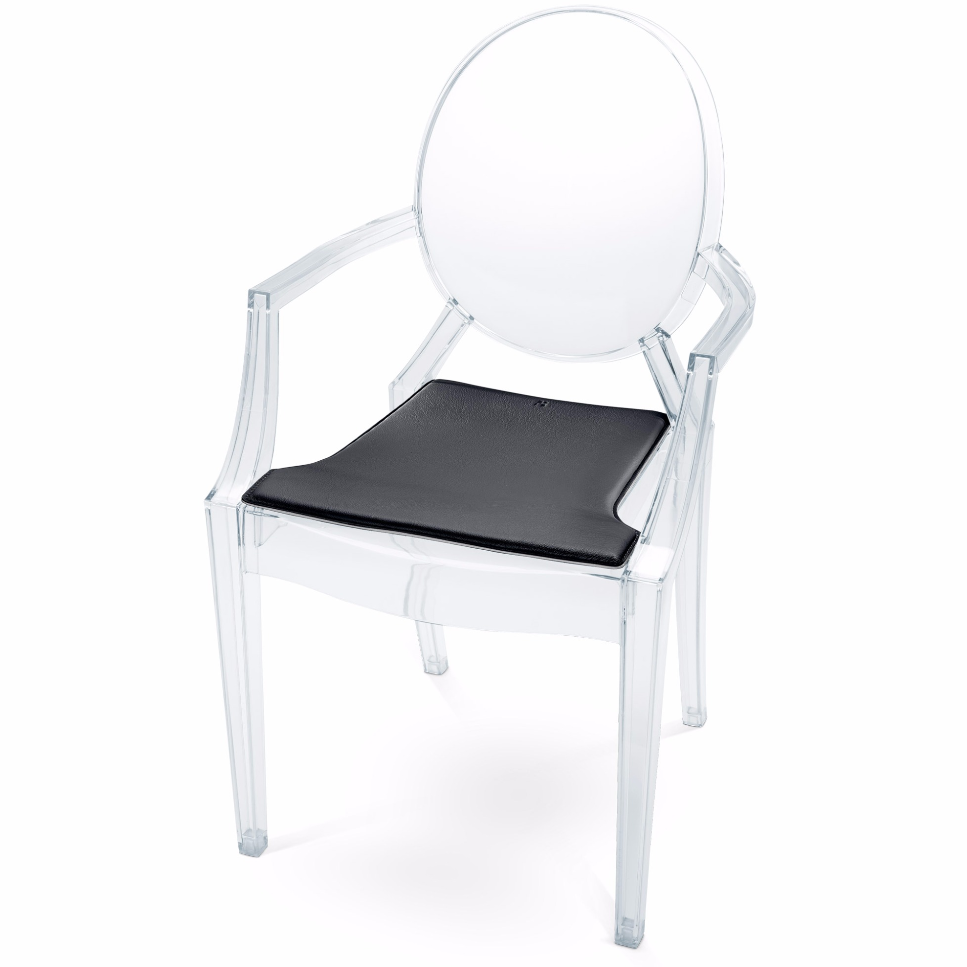 Ghost Chairs With Seat Cushions Back and seat cushions on these