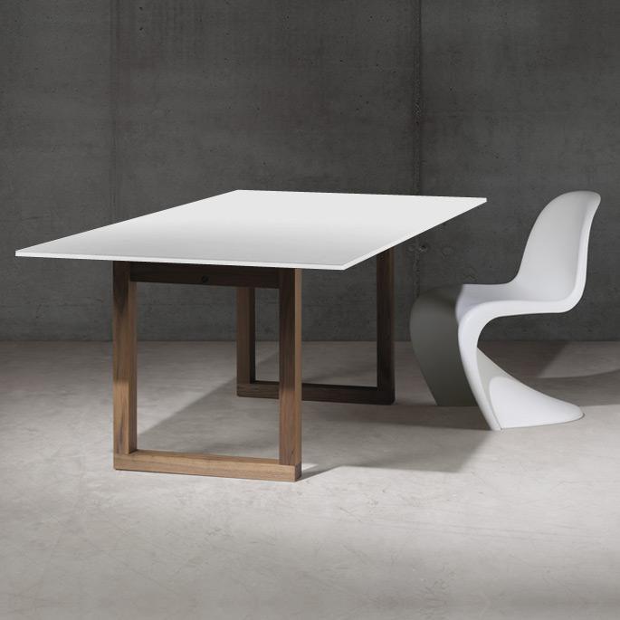 Esstisch weiß holz  SC 25 Tisch (HPL weiß / Holz) von Janua