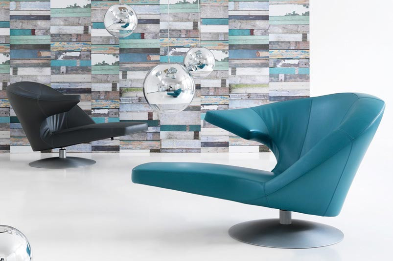 swivel armchair parabolica by leolux, Möbel