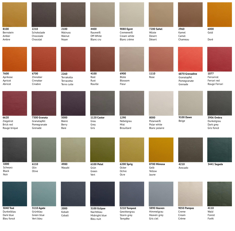 Colour Pattern Leolux Leather Senso