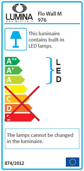Flo Wall M Led Wall Lamp By Lumina