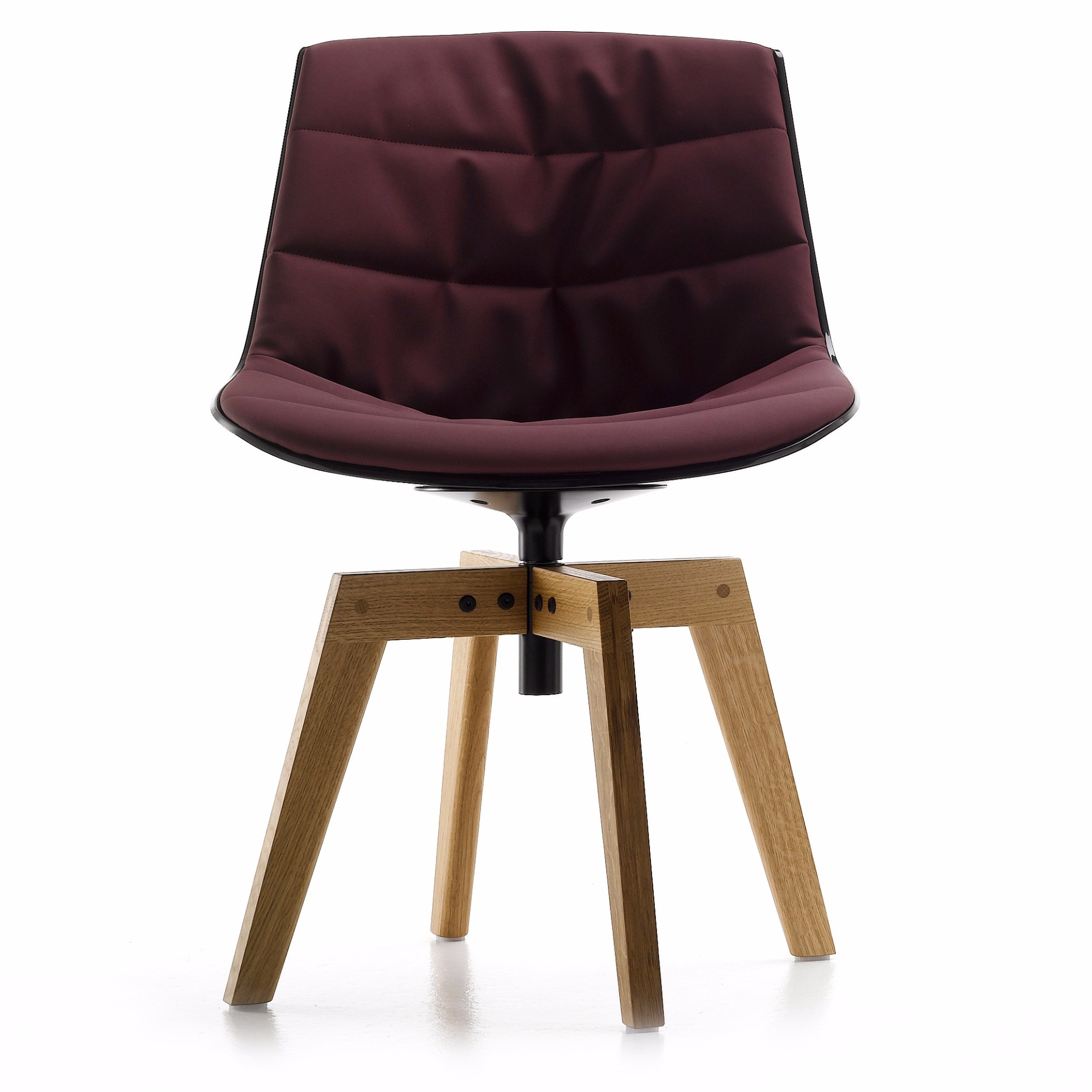 Upholstered Flow Chair By Mdf Italia With Oak Base