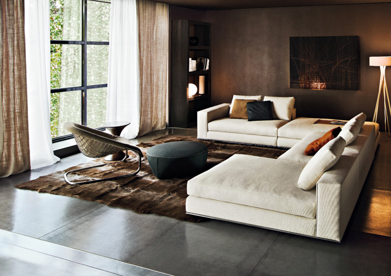 Sofa series hamilton by minotti for Home style furniture hamilton