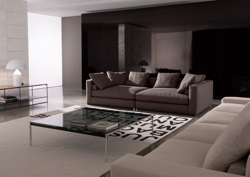 sofa jagger high back high armrest von minotti. Black Bedroom Furniture Sets. Home Design Ideas