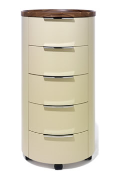 round chest of drawers conga by sch nbuch. Black Bedroom Furniture Sets. Home Design Ideas
