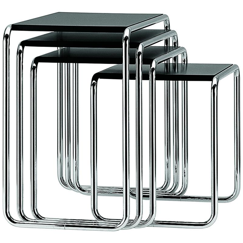 b 9 beistelltisch satztisch von thonet. Black Bedroom Furniture Sets. Home Design Ideas