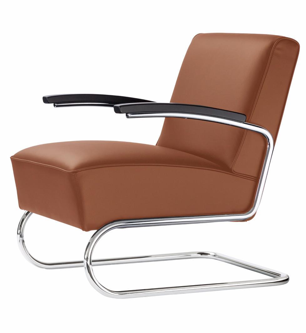 freischwinger sessel s 411 von thonet. Black Bedroom Furniture Sets. Home Design Ideas
